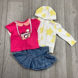 Baby Girl Outfit 12-18 Months 3 Piece Matching Set